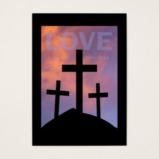 KÄRLEK - kort för Romans5:8område/,