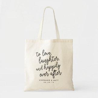 Kärlek Laughter & lyckligt någonsin, når att ha Budget Tygkasse
