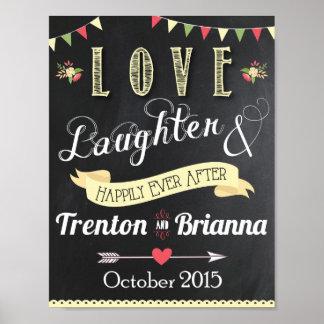 Kärlek Laughter och lyckligt någonsin After Affischer