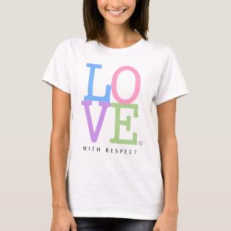KÄRLEK med för regnbågekärlek för respekt Iconic T-shirt