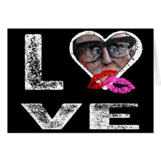 KÄRLEK med kyssar - fotomall Hälsningskort