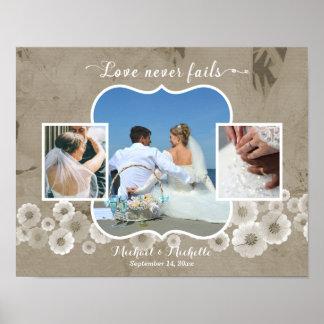 Kärlek misslyckas aldrig affischen för poster