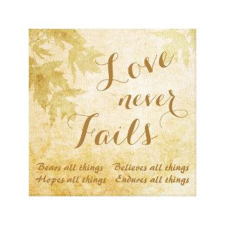Kärlek misslyckas aldrig naturen canvastryck