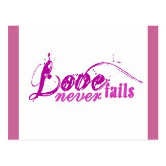 Kärlek misslyckas aldrig vykort