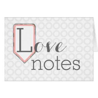Kärlek noterar | som den blandade grå färg för OBS kort
