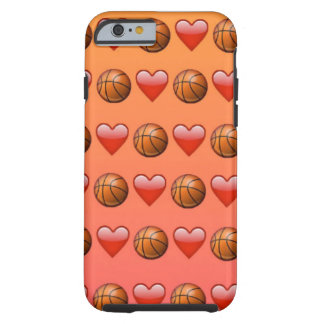 Kärlek- och basketEmoji iphone case Tough iPhone 6 Skal