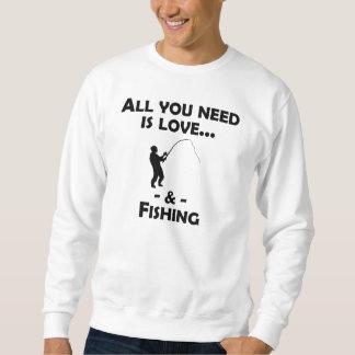 Kärlek och fiske lång ärmad tröja