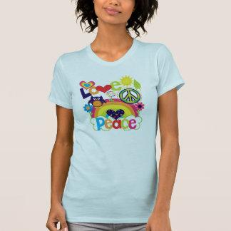 Kärlek och fredbaby tee shirt