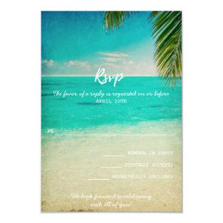 Kärlek och strandbröllop OSAkortet 8,9 X 12,7 Cm Inbjudningskort