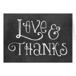 Kärlek och tack noterar svart tavlaberlock för kor hälsnings kort