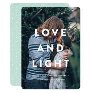 Kärlek och tänder | typografi överdrar det 12,7 x 17,8 cm inbjudningskort