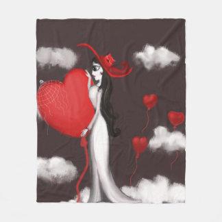 kärlek och valentin fleecefilt
