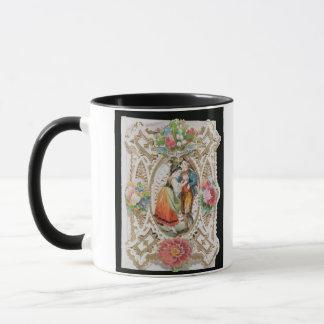 Kärlek oskuld, valentinkort, c.1870 (färgli mugg