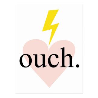 Kärlek Ouch Vykort