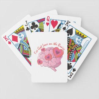 Kärlek på hjärna spelkort