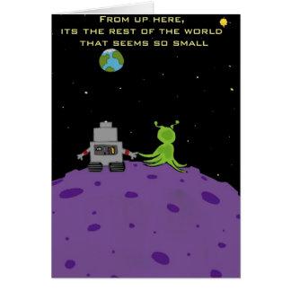 Kärlek på Pluto hälsningkort Hälsningskort