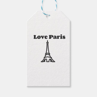 Kärlek Paris Presentetikett