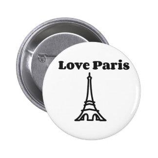 Kärlek Paris Standard Knapp Rund 5.7 Cm