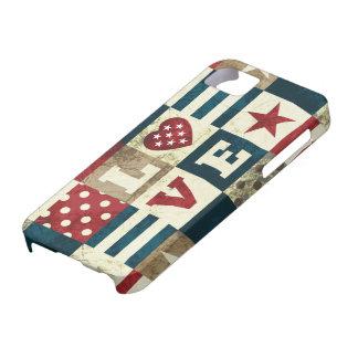 Kärlek patriotiska Amerika iPhone 5 Skal