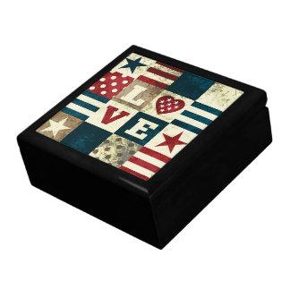 Kärlek patriotiska Amerika Presentskrin