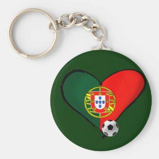 Kärlek Portugal e Futebol - quer för vôce för noll Rund Nyckelring
