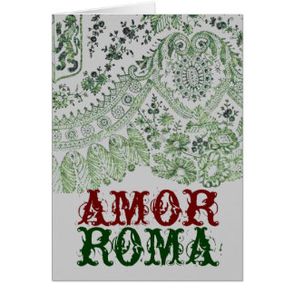 Kärlek Roma med grönt snöre Hälsningskort