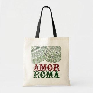 Kärlek Roma med grönt snöre Tygkasse