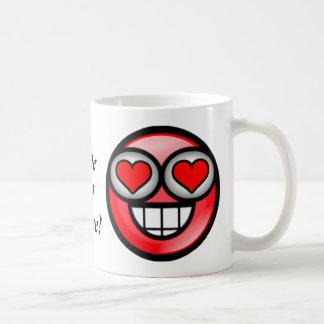 Kärlek-Rött Vit Mugg