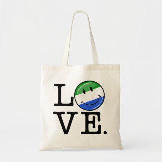 Kärlek Sierra Leone som ler flagga Budget Tygkasse