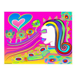 Kärlek ska blommar: Dröm- utrymme Vykort