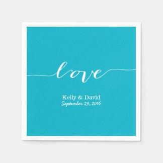 Kärlek skrivar den moderna gifta sig möhippan för pappersservett