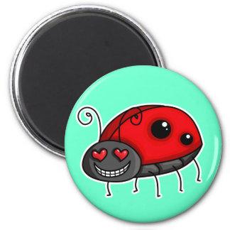 Kärlek slågen nyckelpiga/nyckelpiga magnet