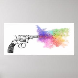 kärlek smokinvapen: regnbåge: poster