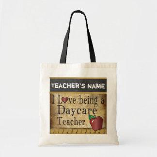 Kärlek som är en Daycarelärare, hänger lös Budget Tygkasse