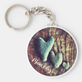 Kärlek stenar nyckelringen rund nyckelring