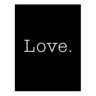 Kärlek. Svartvit kärlekcitationsteckenmall Vykort