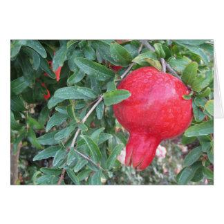 Kärlek till dig hälsning med pomegranaten hälsningskort
