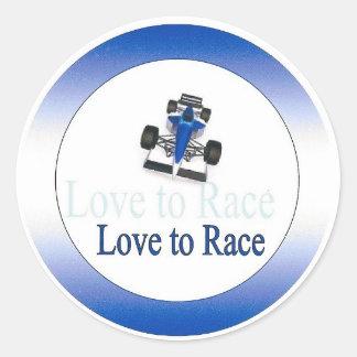 Kärlek till tävlingen - klistermärkerunda runt klistermärke