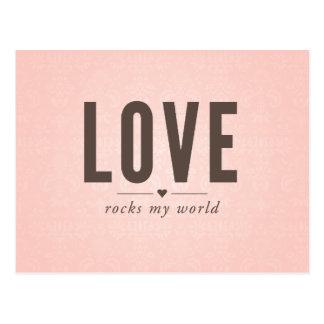 Kärlek vaggar min världsvintagevykort vykort