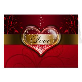 """""""Kärlek"""" valentin kort för dag"""