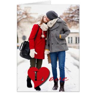 Kärlek. Valentin kort för foto för dag