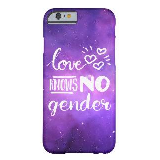 Kärlek vet ingen gender LGBT Barely There iPhone 6 Skal