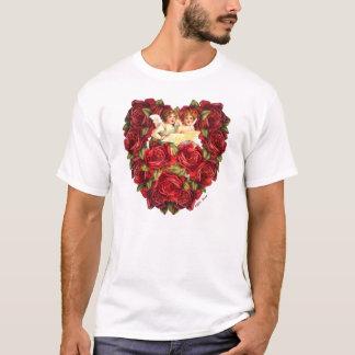 Kärlek XOXO för hjärta för vintagevalentinCupid Tee Shirts