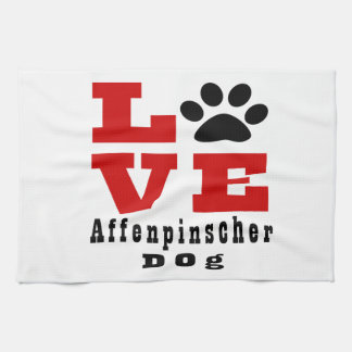 KärlekAffenpinscherhund Designes Handhandukar