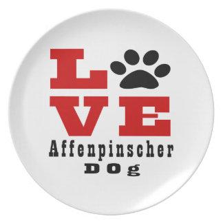 KärlekAffenpinscherhund Designes Tallrikar