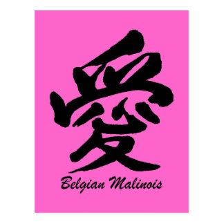 kärlekbelgare Malinois Vykort