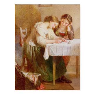 Kärlekbrev, 1871 vykort