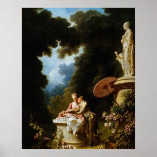 Kärlekbrev av Jean Honore Fragonard Poster