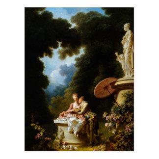Kärlekbrev av Jean Honore Fragonard Vykort