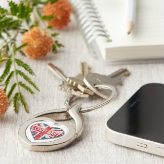 Kärlekbritt Twisted Heart Silverfärgad Nyckelring